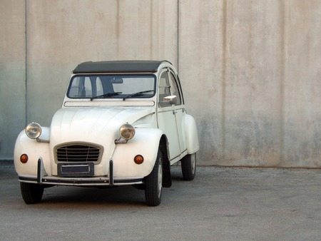 A beige Citroen 2cv from the 80's Stock Photo - 1365927