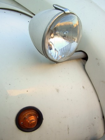 Beige Citroen 2cv headlight and indicator Stock Photo - 1365925