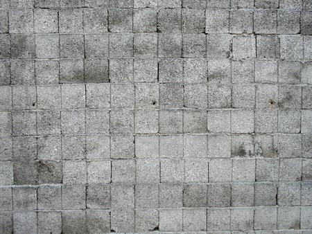 Gray square concrete regular bricks background Stock Photo - 1385382