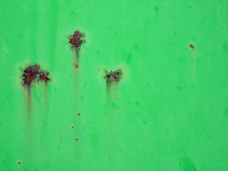 Rusty green painted metal background Stock Photo - 1365944