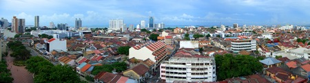 georgetown: Panoramic view over Georgetown (Penang), Malaysia