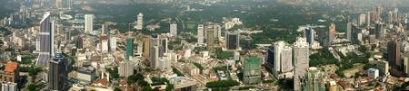 klcc: Kuala Lumpur aerial view from TV tower Stock Photo