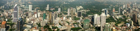 Kuala Lumpur aerial view from TV tower 스톡 콘텐츠