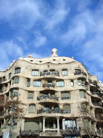 trencadis: Casa Mil� (La Pedrera) exterior, Barcelona, Espa�a  Foto de archivo