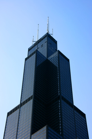sears: Sears tower seen from below, top section detail