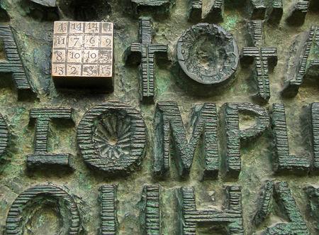 inscriptions: Magic square and inscriptions on Sagrada Familia gates