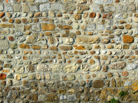 Ancient coloured stones concrete wall background Stock Photo - 1374228
