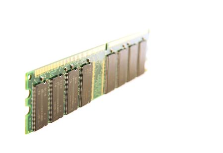 Personal computer RAM memory module, isolated on white background photo