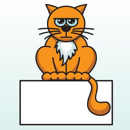 Angry orange cat, vector Stock Vector - 1987178