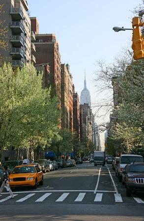 5th avenue from Washington square, Manhattan, New York, springtime