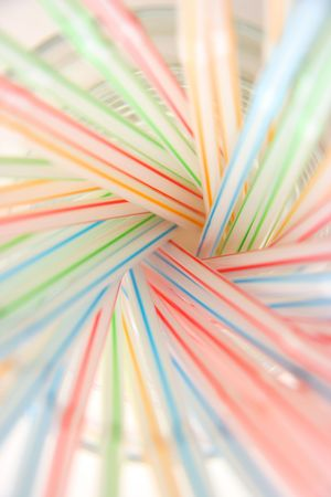 Abstract colorful background made from drinking straws, vertical Stock Photo - 2731659