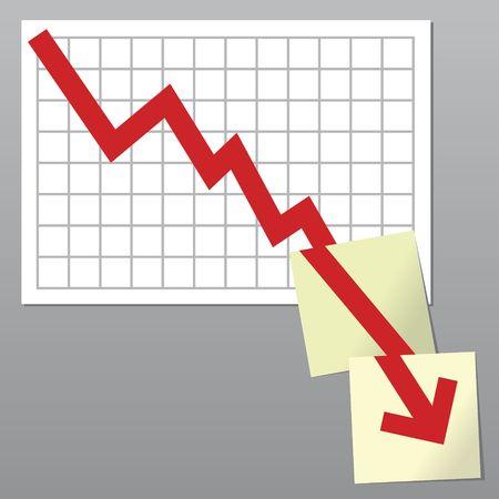 Business-Grafik mit mehr als bottom line Grenzen und gehen auf mehr als Noten