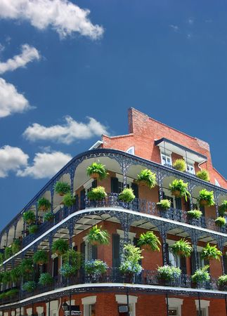 New Orleans architecture, wrought iron balconies photo