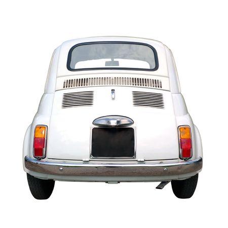 60s vintage italian car isolated on white background
