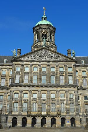 dam square: Amsterdam Royal Palace in Dam square, Amsterdam, Netherlands