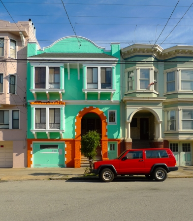 Traditional victorian architecture in San Francisco