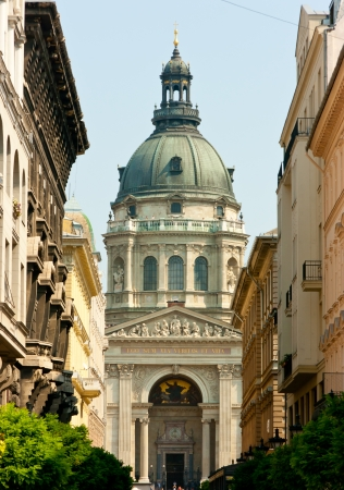 europe eastern: St. Stephens Basilica seen from Zrinyi ulica, Budapest, Hungary
