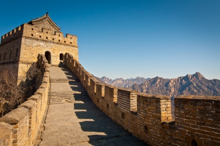 Restauriert Great Wall Tower at Mutianyu, nahe Beijing, China Lizenzfreie Bilder - 17492405