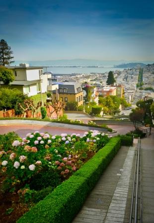 Lombard Street auf dem Russian Hill, San Francisco Standard-Bild - 17591970