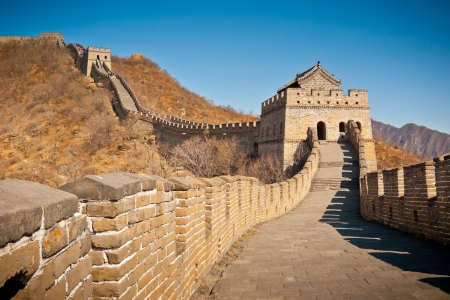 great wall: Restored Great Wall Tower at Mutianyu, near Beijing, China