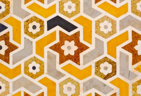 inlay: Detail of a decoration in Itmad-Ud-Daulahs tomb in Agra, Uttar Pradesh, India