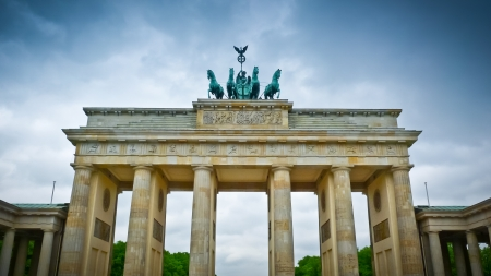 Brandenburg gate (Brandenburger Tor) in Pariser Platz, Berlin, Germany photo