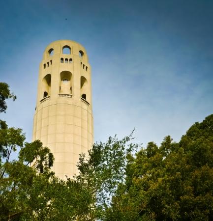 telegraph hill: Lillian Coit Memorial Tower atop Telegraph Hill in San Franciscos Pioneer Park, USA