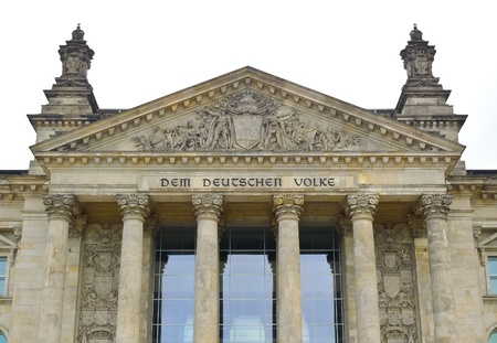 architrave: Tympanum and architrave of Reichstag building in Berlin, Germany