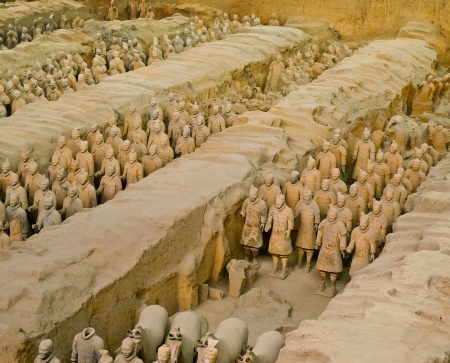 Qin dynasty Terracotta Army, Xian, China
