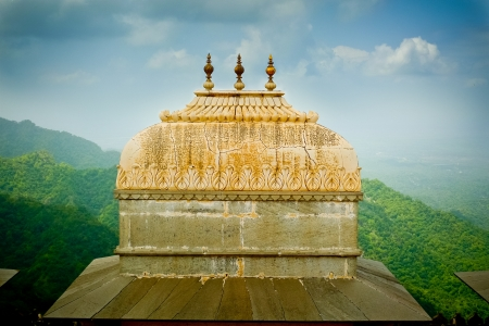 landscape architecture: Dome detail in Kumbhalgarh fort, Rajasthan, India Stock Photo