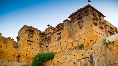 ramparts: The ramparts of Jaisalmer Fort, Rajasthan, India Editorial