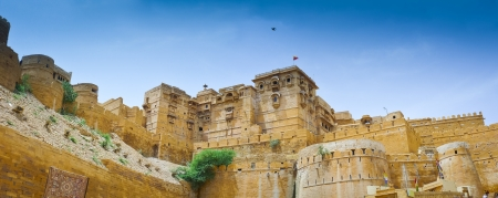 ramparts: Panoramic view of the ramparts of Jaisalmer Fort, Rajasthan, India