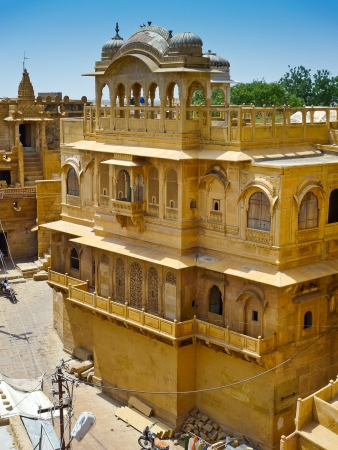 rajput: Historic palace in the Jaisalmer Fort, Rajasthan, India
