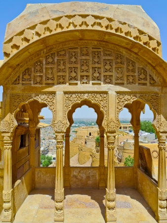 Jaisalmer View from one of Royal Palace balconies, Rajasthan, India