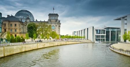 bundes: Reichstag and Band des Bundes, Berlin, Germany.