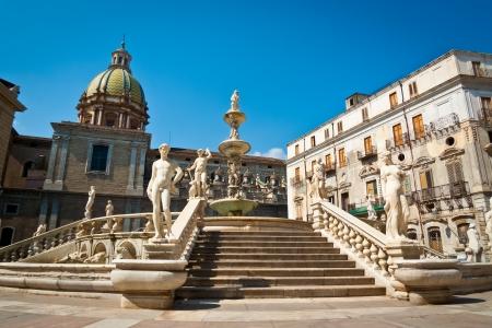 Piazza Pretoria oder Piazza della Vergogna, Palermo, Sizilien, Italien