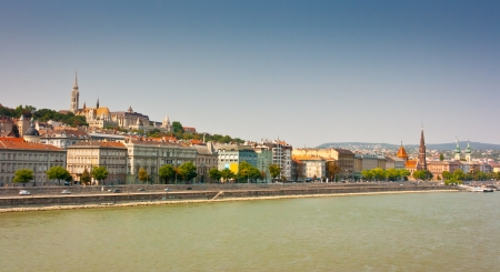Buda waterfront and Buda Castle district, Budapest, Hungary photo