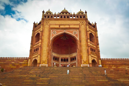 Buland Darwaza, der 54 Meter hohen Eingang Fatehpur Sikri komplexen, Uttar Pradesh, Indien