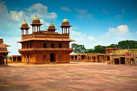 Diwan-i-Khas, die Halle der privaten Audienz in Fatehpur Sikri, Uttar Pradesh, Indien