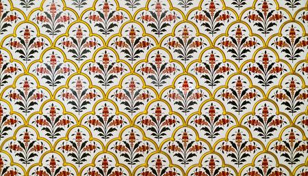 Dekoration Detail in Junagarh Fort, Bikaner, Rajasthan, Indien Lizenzfreie Bilder