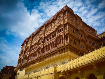 Mehrangarh Fort central palace, Jodhpur, Rajasthan, India