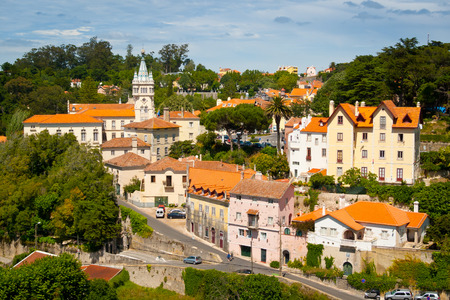 Old town and municipal building of Sintra,  Portugal, Europe