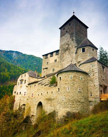 Tures Castle above Campo Tures, Aurina valley, South Tyrol, Trentino Alto Adige, Italy