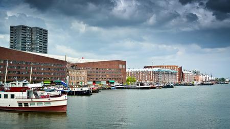 KNSM-Insel und Ertshaven, Amsterdams Eastern Docklands, Niederlande