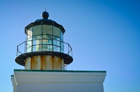 Punkt Bonita Leuchtturm Laterne am Eingang der San Francisco Bay Lizenzfreie Bilder
