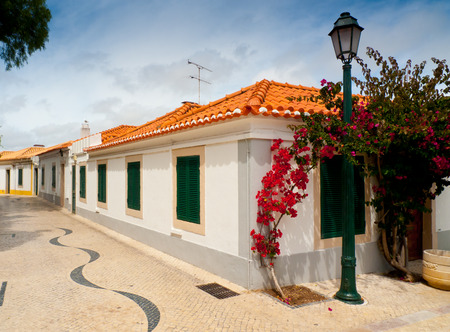 Picturesque street in the town of Cascais, Lisbon, Portugal
