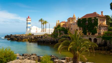Santa Marta Leuchtturm und Stadtmuseum, Cascais, Lissabon, Portugal Editorial