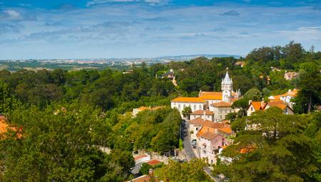 Altstadt, kommunalen Gebäude und die Umgebung von Sintra, Portugal, Europa