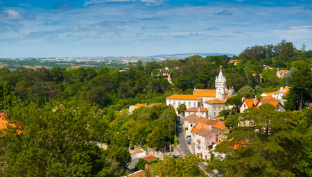 Old town, municipal building and surroundings of Sintra, Portugal, Europe Standard-Bild