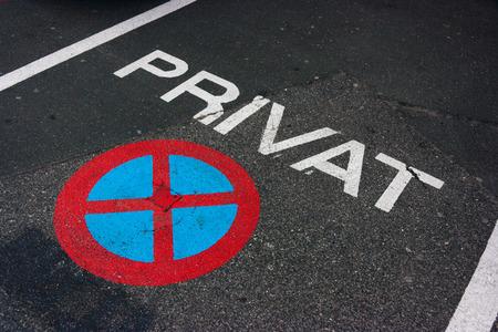 Private parking markings in Klagenfurt, Austria